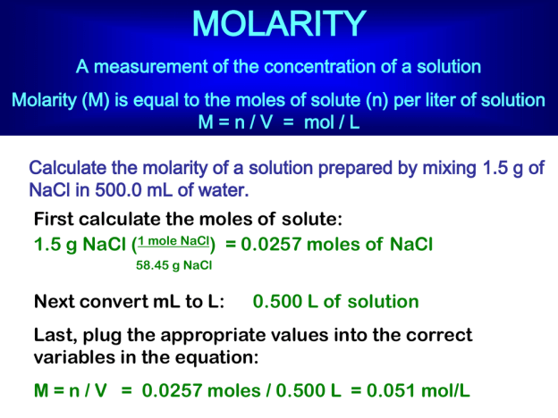 Molarity matters